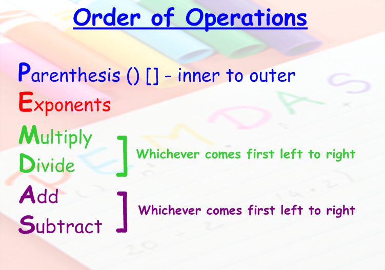 Order of operations essay
