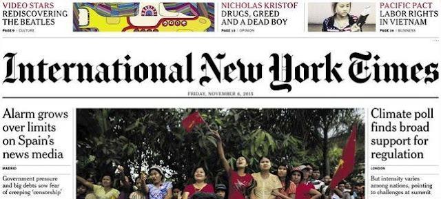 The New York Times cuestiona la independencia de los medios tradicionales españoles