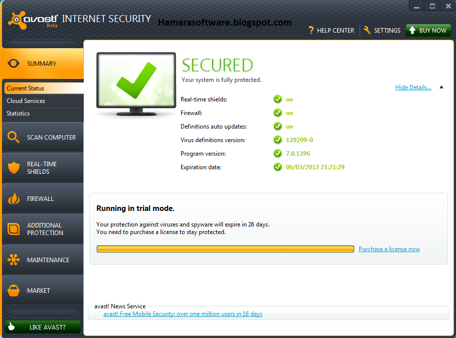 Avast internet security v8 0 1489 300 with licence keys valid