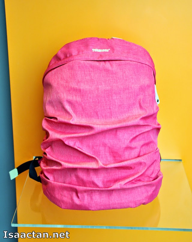 One of the bright pink coloured Terminus bag