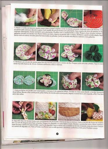 Pano de prato com frutas de tecido
