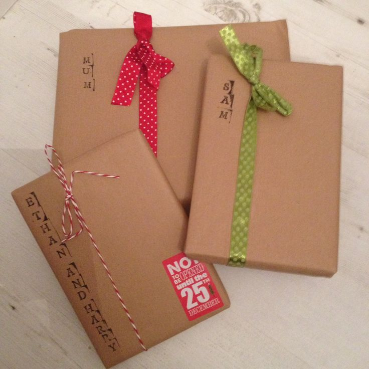 christmas brown paper wrapping ideas