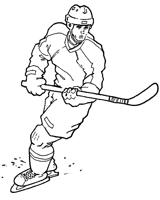 Sports coloring pictures for kids for Hockey coloring pages printable