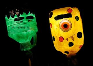 Ideas para Reciclar Plastico en Halloween, Parte I