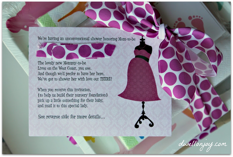 an unconventional baby shower, Baby shower invitation