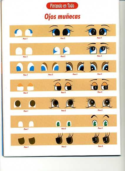 Dibujos y Plantillas para imprimir: Como pintar ojos en munecos ...