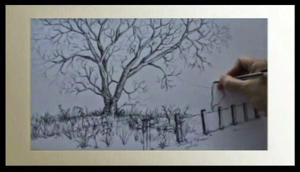 semplici schemi per imparare a disegnare ramoscelli