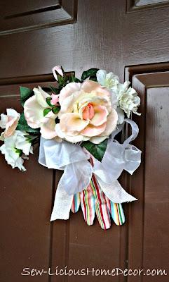 floral arrangement for your front door