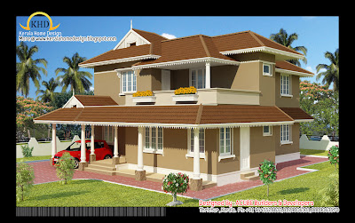 Duplex House Elevation - 223 square meter (2400 Sq.Ft) - November 2011