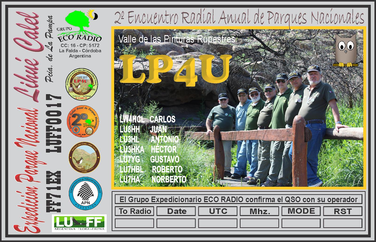 QSL Expedición Parque Nacional Lihué Calel