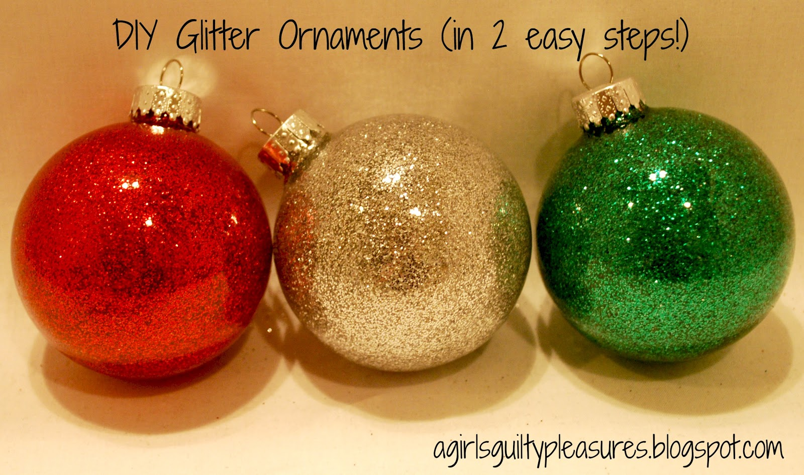 A girl s guilty pleasures diy glitter ornaments