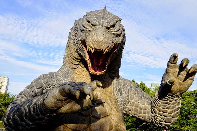 estatua de Godzilla de Midtown en Roppongi