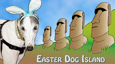Blue the Easter Dog Island bunny
