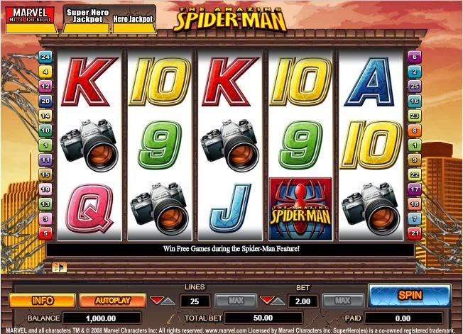 Spider-man slots