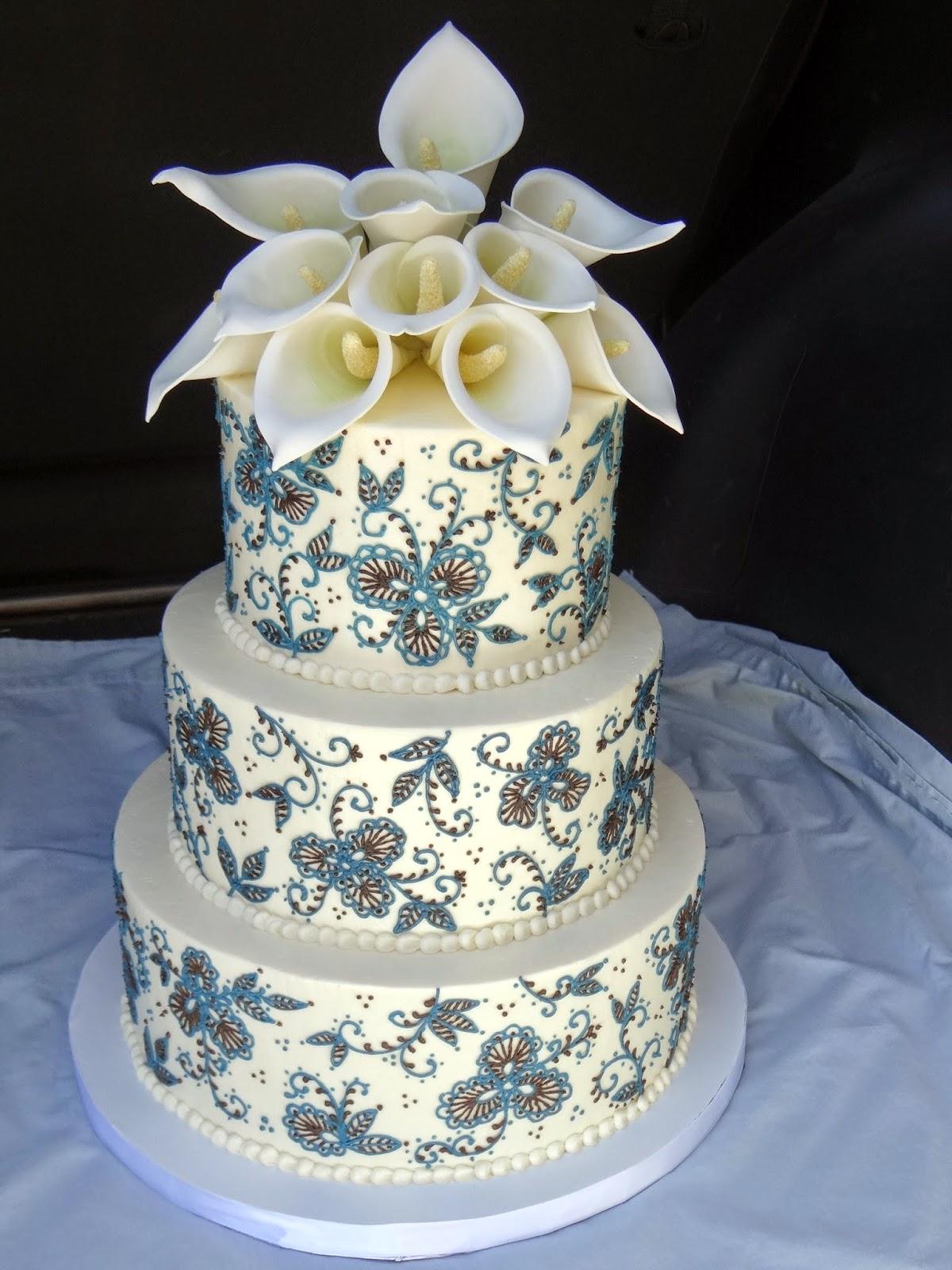 Tiers of Joy Cakery Calla Lily Wedding Cake