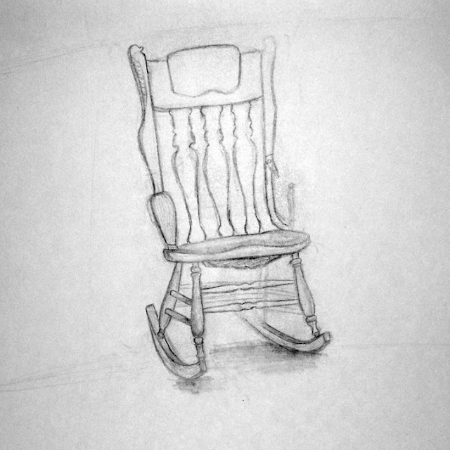 Byuh drawing rocking chair