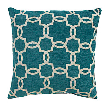 Spencer Industries Linked Tile Teal Decorative PillowEverything
