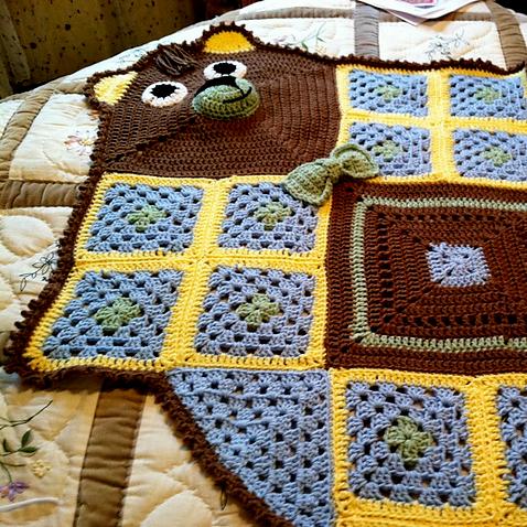 Bear Blanket for Brooke's Shower