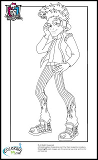 monster high boys holt hyde coloring pages
