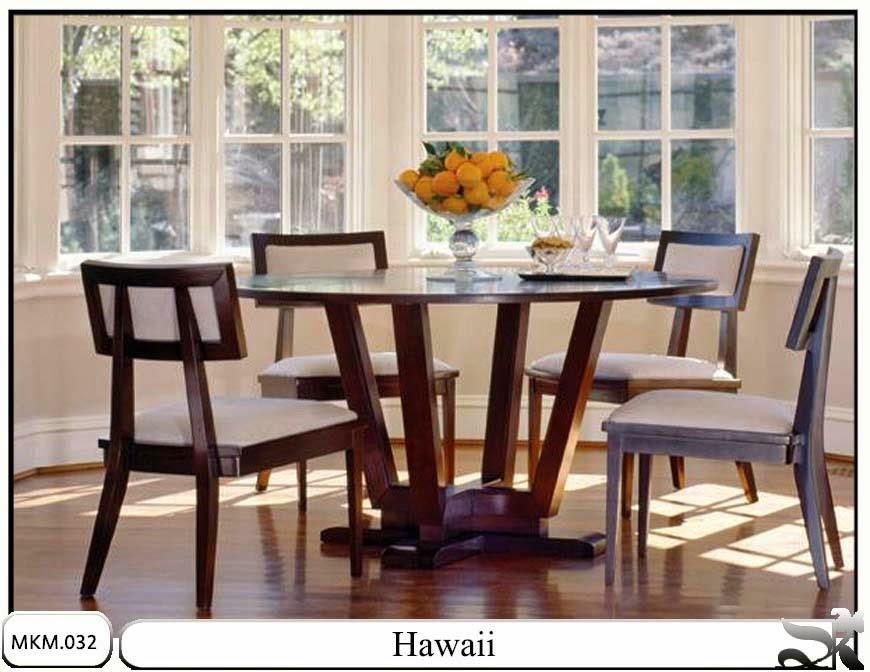Kursi makan minimalis dan meja Hawaii
