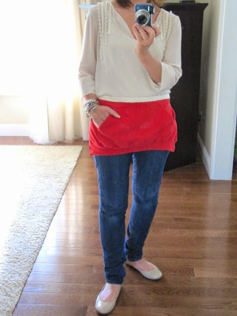 recycled sweatshirt apron