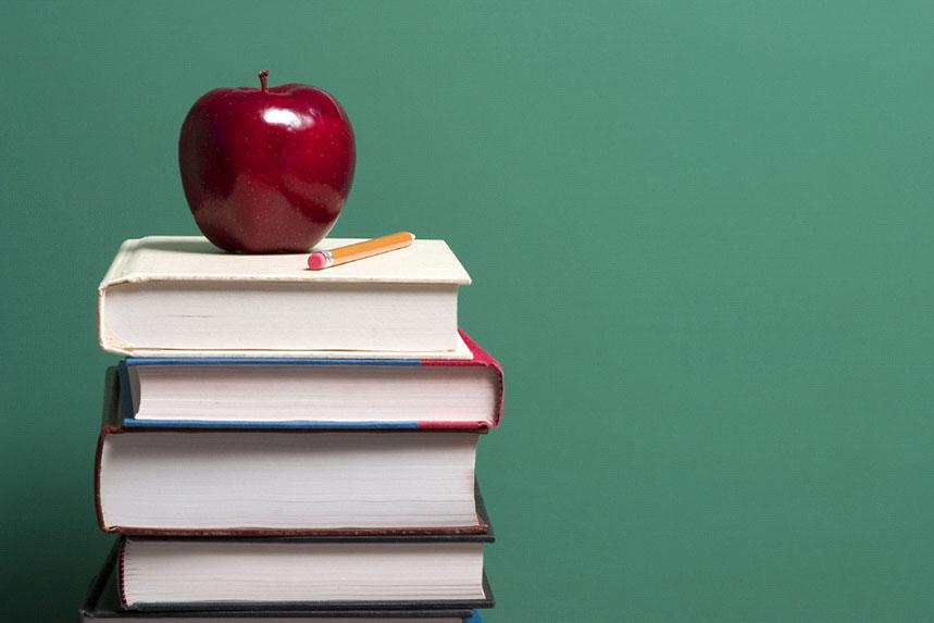 teacher apple and book...