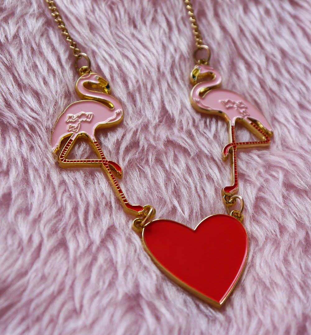 Karen Mabon necklace, flamingo jewellery