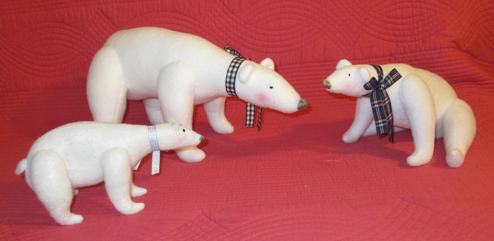 patrons ours blancs pour déguisements