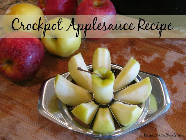 Got apples? Want applesauce? Try this Crockpot Applesauce Recipe from Recipes for Real People.