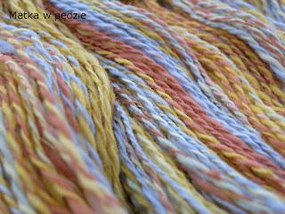 włóczka ręcznie farbowana