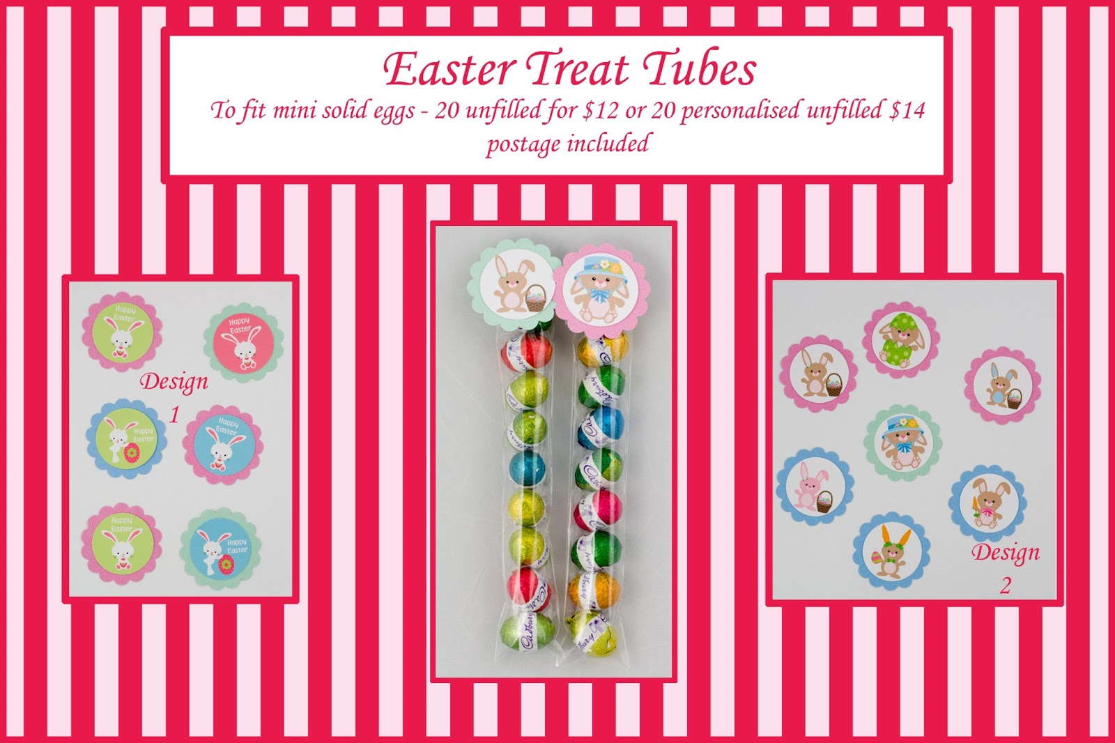 Whats on 4 kids parties easter gift ideas gorgeous range of topper designs to choose from then you simply fill with mini chocolate eggs or other sweets such as jelly beans m ms etc negle Image collections