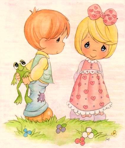 Dibujos coloreados preciosos momentos