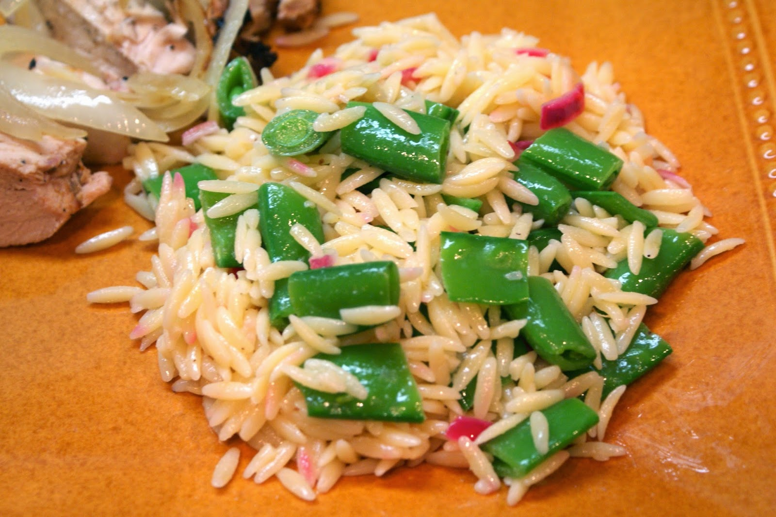 ... with mozzarella orzo and snap peas mozzarella orzo and snap pea salad