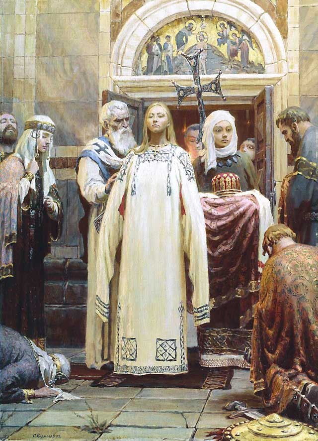 BAPTISM OF SAINT OLGA