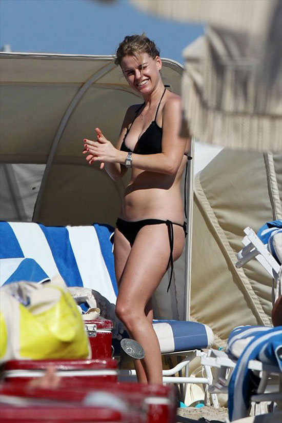 Alice Eve – Wearing a Bikini at a Beach in Miami