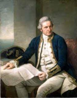 Captain Cooks portrait.