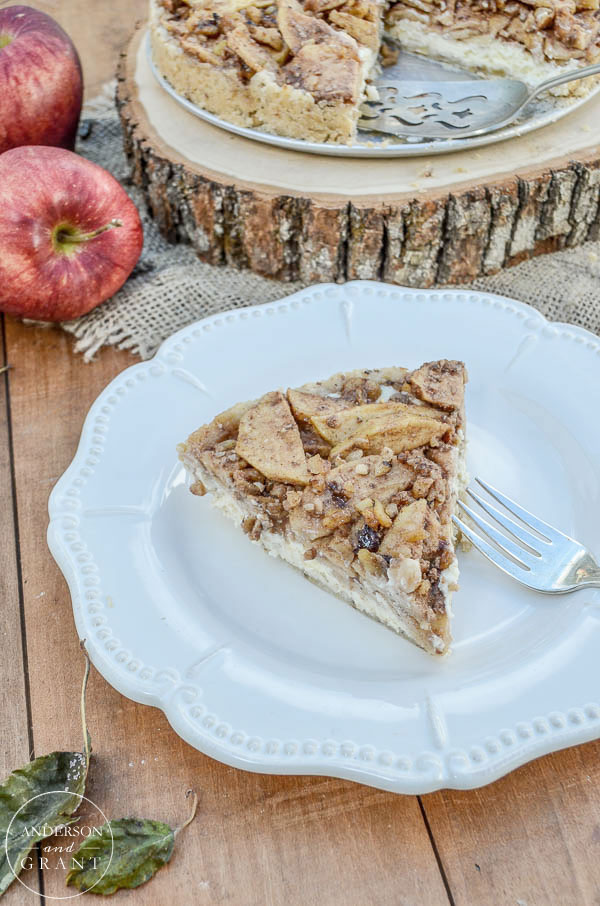 Apple Danish Cheesecake on a Walnut Almond Crust  |  anderson + grant
