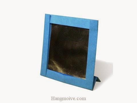 Cách gấp, xếp cái Gương trang điểm bằng giấy origami - Video hướng dẫn xếp hình đồ thời trang - How to fold a Mirror