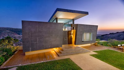 Decoracion actual de moda fachadas de casas modernas for Casas contemporaneas de una planta