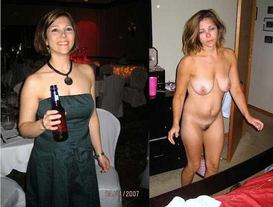 woman photographed with and without clothes