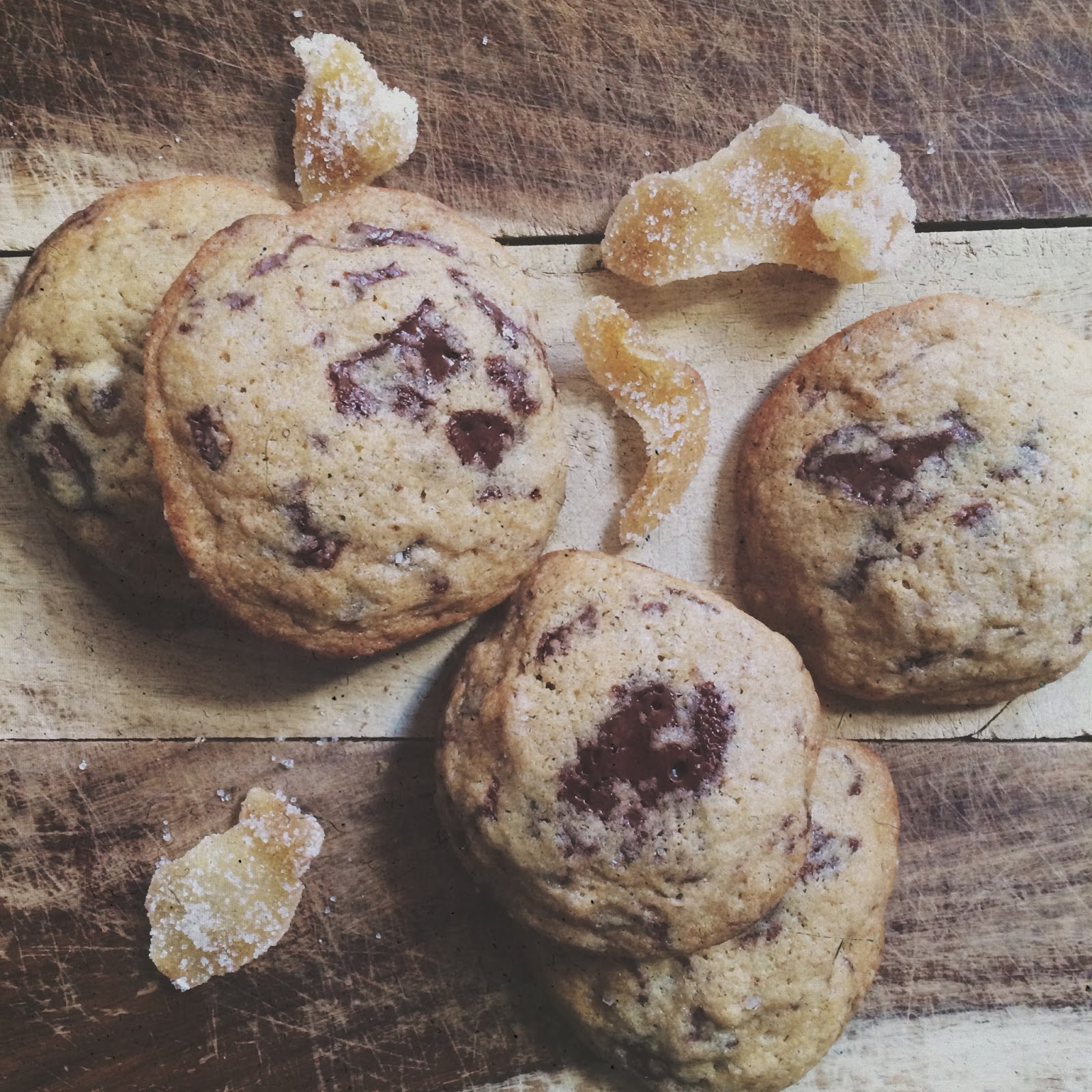 i feed boys: Candied Ginger Chocolate Chip Cookies with ...