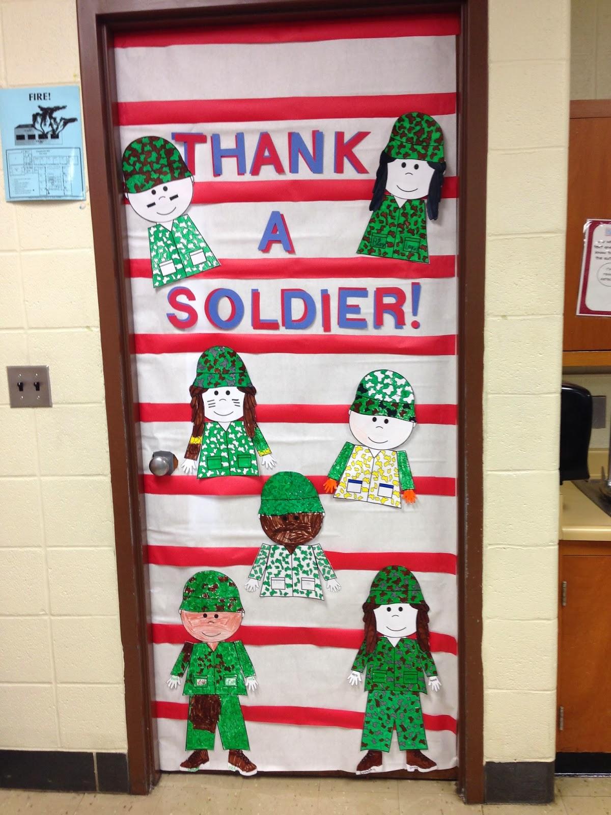 Veterans Day Classroom Door Decoration Ideas ~ Classy in the classroom happy veterans day