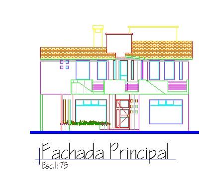 Descargar planos en autocad dwg vivienda 40 en dwg for Casas en 2d