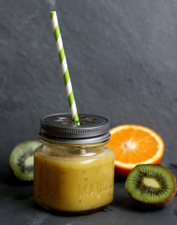 Smoothie, Kiwi, Orange, Banane, Maracuja