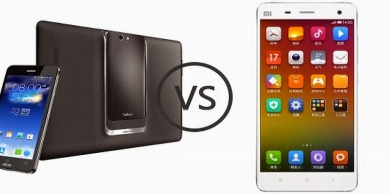 Adu Gadget : Xiaomi Mi4 vs Asus Padfone S