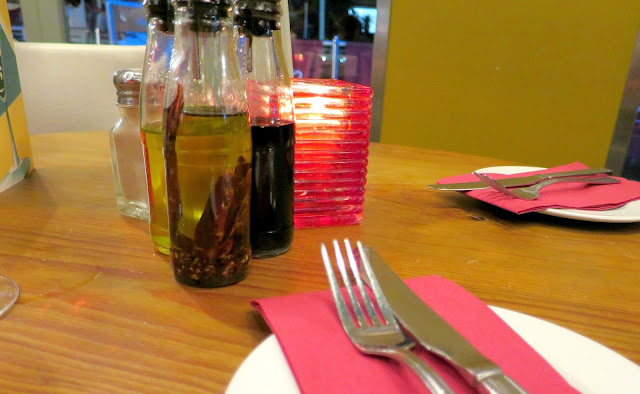 Azzuro Gunwharf Quays Italian Restaurant Table Oil