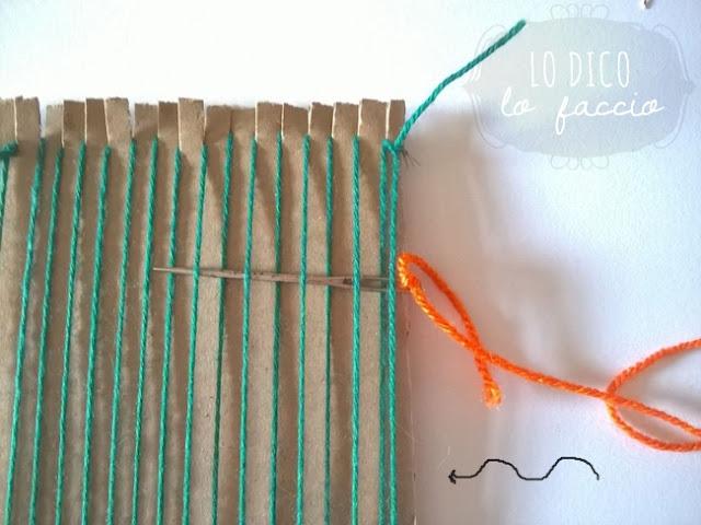 come fare telaio di cartone sottotazza