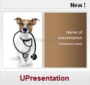 Modèles PPT gratuits Médecine Santé veterinaire chien sthetoscope