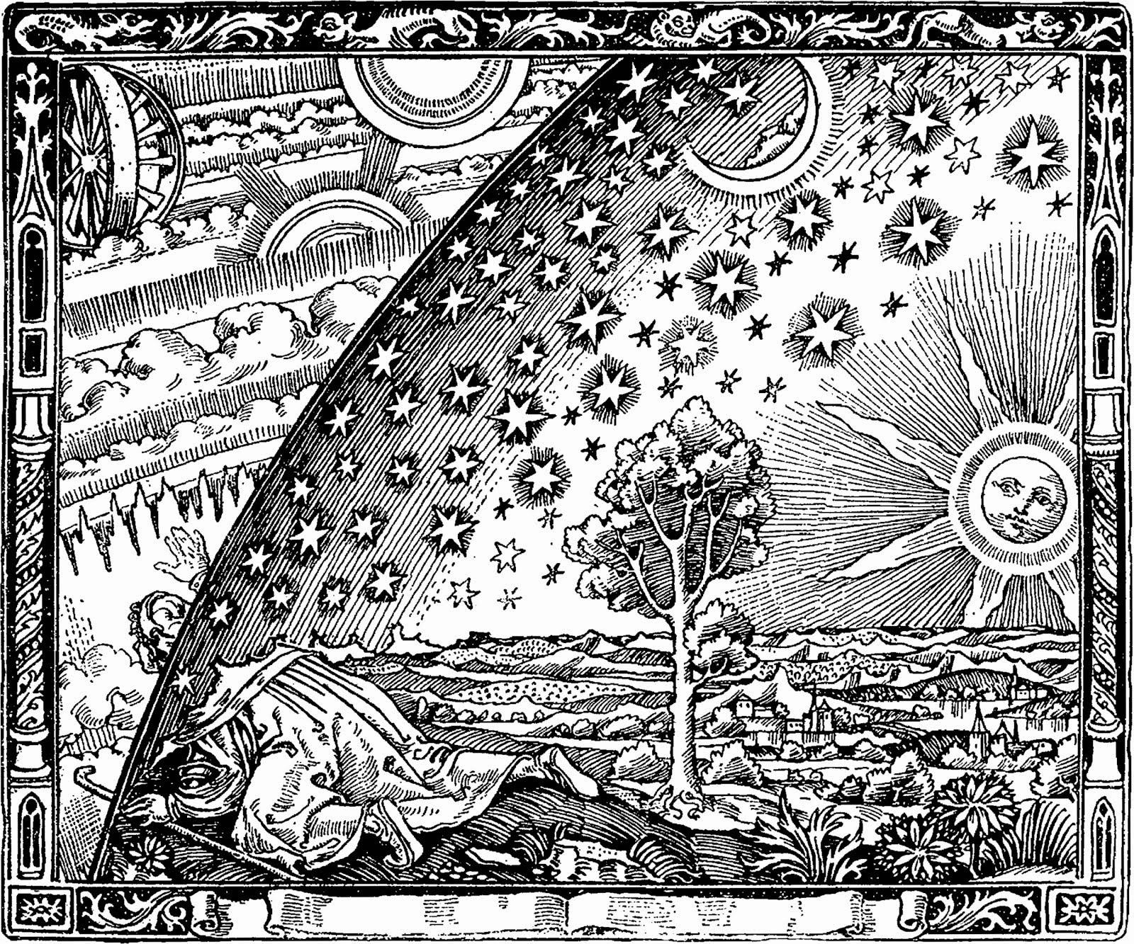 Flammarion engraving, Paris 1888, for Flammarion's 1888 L'atmosphère : météorologie populaire
