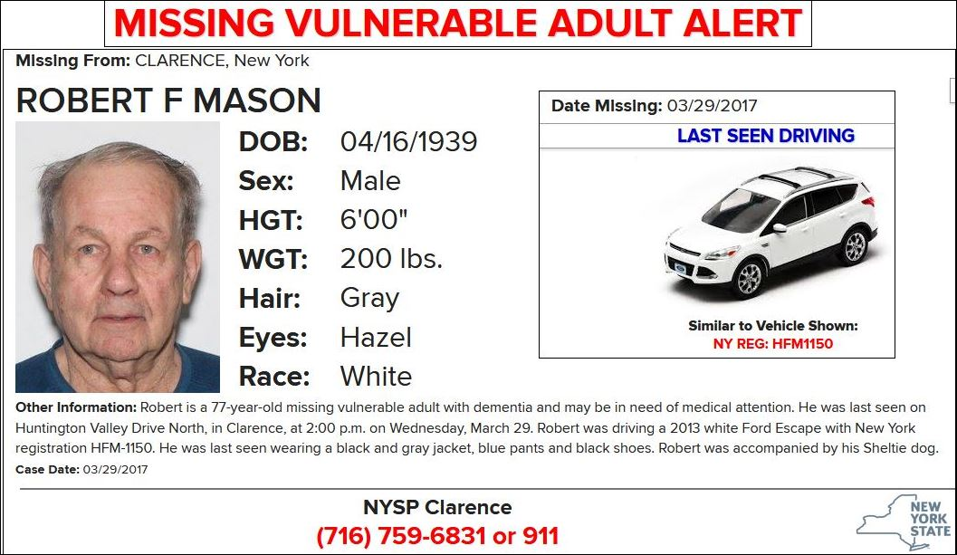 Missing Vulnerable Adult